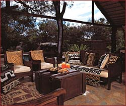 Safari Destinations in South Africa. Chapungu Luxury Tented Camp, Lounge