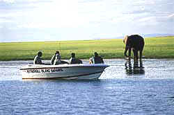 Fothergill Safari Lodge, Matusadona, Zimbabwe - Game viewing by boat