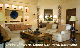 Chobe National Park in Botswana, Safari packages, lodges and safari camps in Chobe, Chobe Chilwero Safari Lodge