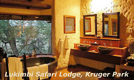 Bathroom at Lukimbi Safari Lodge,Kruger Park, South Africa