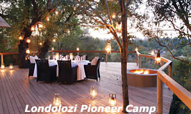 Deck, Londolozi Pioneer Camp, Londolozi Private Game Reserve, South Africa