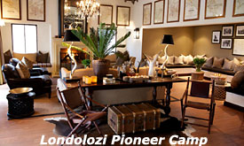 Lounge Londolozi Pioneer Camp, Londolozi Private Game Reserve