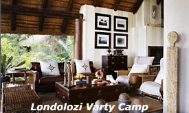 Lounge at Londolozi Varty Camp, Luxury Safari Lodge in Sabi Sands, South Africa