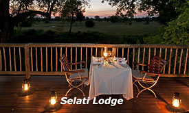 Sabi Sabi Selati Lodge, Sabi Sands, South Africa, Private Dinner at Selati Lodge