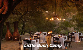 Sabi Sabi Little Bush Camp, Dinner at the Bomma