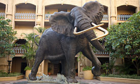 Sun City Holiday Resort in South Africa, Palace of teh Lost City, Statue of Shawu