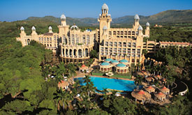 Sun City Holiday Resort in South Africa, Palace of teh Lost City, Aerial View