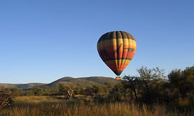 Sun City Holiday Resort in South Africa, Hot Air Balloon Safaris