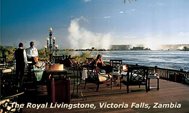 African Safari Vacations, The Royal Livingstone, Victoria falls