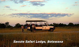 Safari Drive at Savute Safari Lodge, Botswana Safari Vacations,Botswana Safari Packages,Botswana Safaris Tours