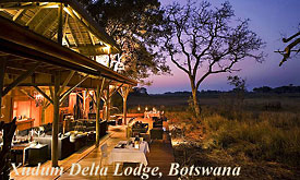 Xudum Delta Lodge, Andbeyond Botswana, Luxury Safaris in Botswana