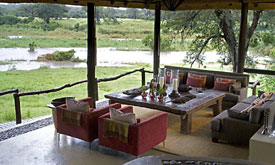 Exeter River Lodge, view from the Lounge