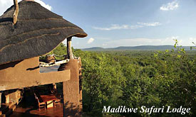 Madikwe Safari Lodge, view over the Madikwe Game Reserve