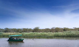 Boating at Phinda Game Reserve