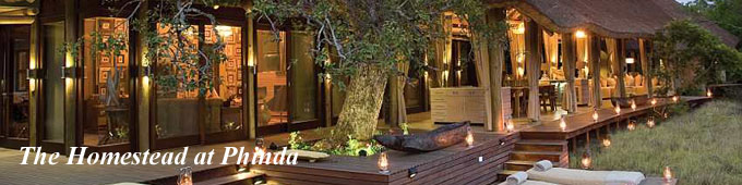 The Homestead, exclusive safari Villa at Phinda Game Reserve in South Africa