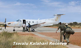 Landing Strip at Tswalu Kalahari Reserve, Kalahari Desert, South Africa