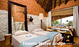 Room at Motse Lodge, Tswalu Kalahari Reserve, Kalahari Desert, South Africa