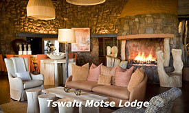 Lounge at Motse Lodge, Tswalu Kalahari Reserve, Kalahari Desert, South Africa