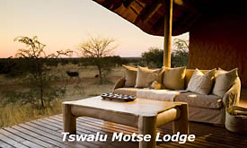 Private Deck at Motse Lodge, Tswalu Kalahari Reserve, Kalahari Desert, South Africa