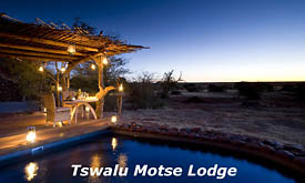 Swimming Pool at Motse Lodge, Tswalu Kalahari Reserve, Kalahari Desert, South Africa