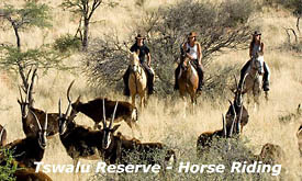 Horse Riding at Tswalu Kalahari Reserve, Kalahari Desert, South Africa