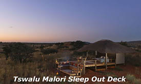 Tswalu Kalahari Reserve, the Malori Sleep Out Deck