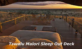 The Malori Sleep Out Deck at Tswalu Kalahari Reserve, Kalahari Desert, South Africa