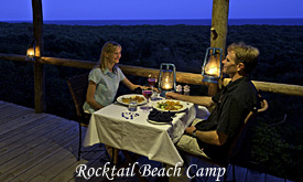 Rocktail Beach Camp, Romantic Dinner