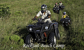 Rocktail Beach Camp, quad bike
