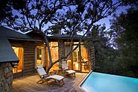 Plunge Pool at Tsala Treetop Lodge,Luxury Lodge on the heart of the Garden Route near Plettenberg Bay in South Africa